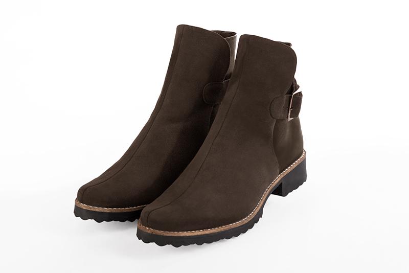 Chaussures et maroquinerie Florence KOOIJMAN , Boots Femme Hiver 2016/2017 en daim marron sur