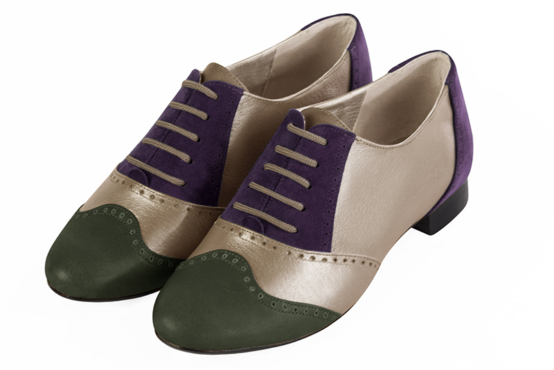 Escarpins personnalisable haut de gamme Florence KOOIJMAN - purple and green derbys