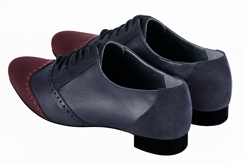 Escarpins grande taille Florence KOOIJMAN - burgundy and navy derbys