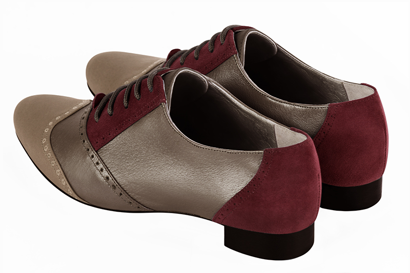 Chaussures haut de gamme Florence KOOIJMAN - women's lace-up shoes, in burgundy color
