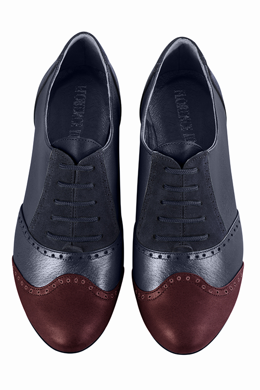 Escarpins personnalisable haut de gamme Florence KOOIJMAN - burgundy and navy derbys