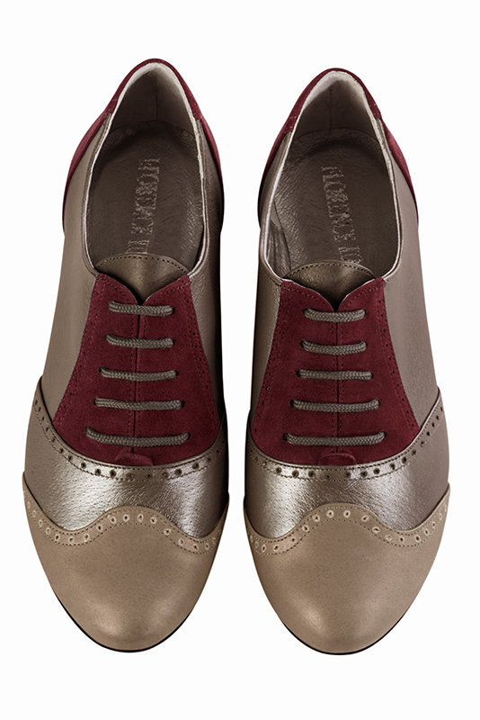 Chaussures et maroquinerie Florence KOOIJMAN - women's lace-up shoes, in burgundy color