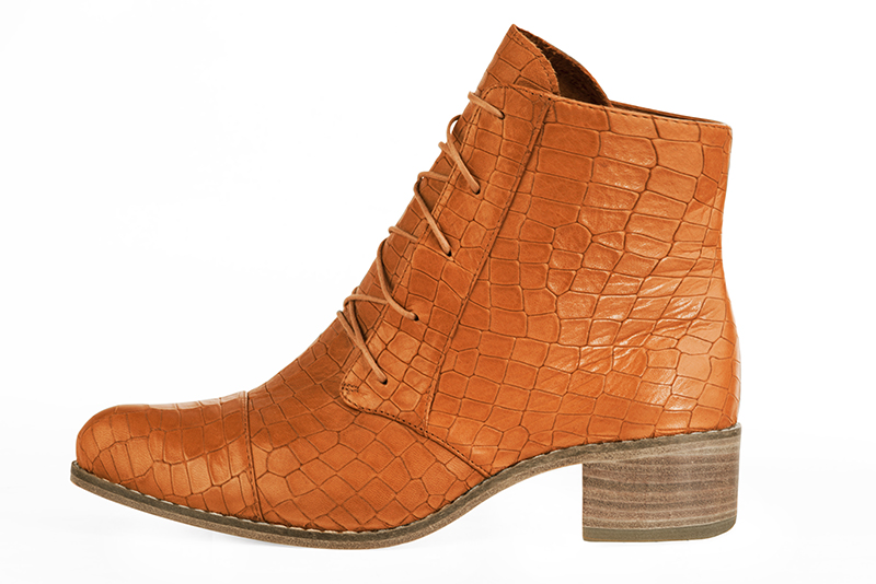Boots tendance Florence KOOIJMAN - Bottine Orange Originale Femme du 35 au 43