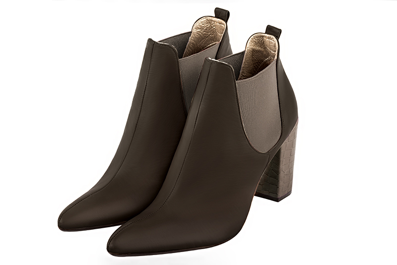 Boots tendance Florence KOOIJMAN - Bottine Femme marron, talon moyen bottier, du 35 au 43.