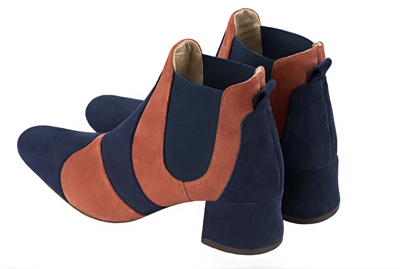 Boots grande taille Florence KOOIJMAN - Bottine Femme, marine et orange, fashion, du 35 au 43.