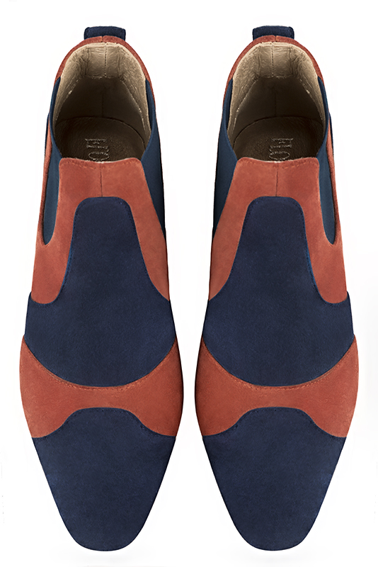 Boots tendance Florence KOOIJMAN - Bottine Femme, marine et orange, fashion, du 35 au 43.